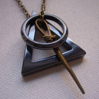 Deathly hallows necklace  symbol -  My Original Design - Harry Potter