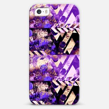 NAVIGATING THE GALAXY in LAVENDER - Elegant Feminine Geometric Lilac Light Purple Arrows Shapes Swirls Colorful Chic Abstract Watercolor Painting iPhone 5s case by Ebi Emporium | Casetify