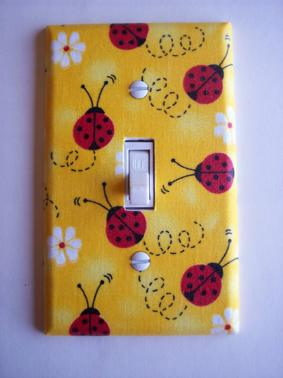 Ladybugs Single Toggle Switchplate