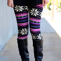 Winter Berry Leggings - ONE-SIZE