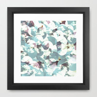 Sky circle blue artwork print