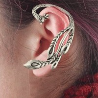 Phoenix Wrapping Single Ear Cuff  | LilyFair Jewelry