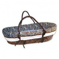 Trend Lab Zebra Blue Sweet Safari Moses Basket Set - MBS-ZB