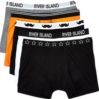 River Island Boys black mixed 5 pack underwear