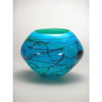 Dale Tiffany Mystic Blue Decorative Jar-Shaped Bowl - PG60691