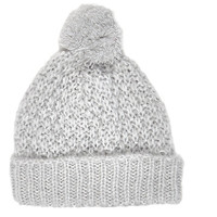 River Island Womens Light grey loose knit beanie hat