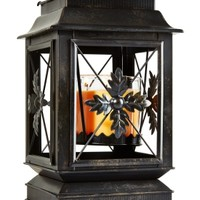 3-Wick Candle Luminary Leaf Lantern