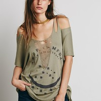 Free People We The Free Slashed Graphic Tee