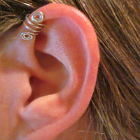 "SALE Buy 1 Get 2nd for 1/2 Price No Piercing ""Double Up"" Ear Cuff for Upper Ear 2 Cuffs - Silver Tone or 17 Color Choices"
