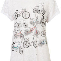 Glitter Bicycle Burnout Tee - New In This Week  - New In