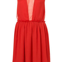 Red Chiffon Dress - Dresses  - Apparel