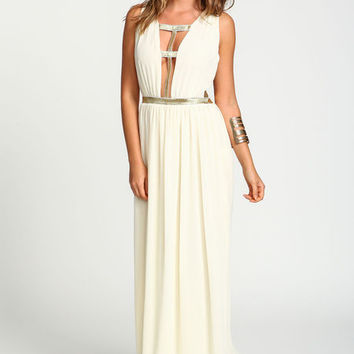 GOLD CAGE MAXI DRESS