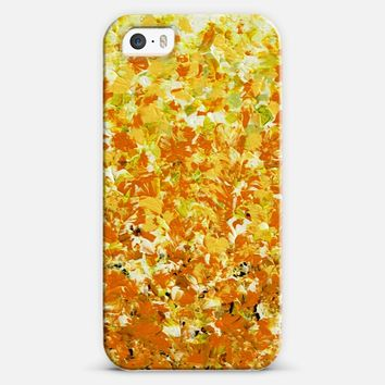FALLING FOR YOU Colorful Autumn Ombre Abstract Acrylic Painting Bold Textural Orange Yellow White Green Fall Nature Fine Art iPhone 5s case by Ebi Emporium | Casetify