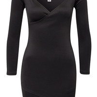 Wrap Plain Dress - Oneness - Black - Party Dresses - Clothing - Women - Nelly.com