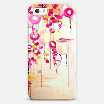 BUBBLEGUM POP - Whimsical Pretty in Pink Cream Abstract Clouds Sky Bubbles Balloons Girlie Feminine Swirls Painting iPhone 5s case by Ebi Emporium | Casetify