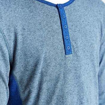 BDG Henley Curved Hem Shirt - Urban Outfitters