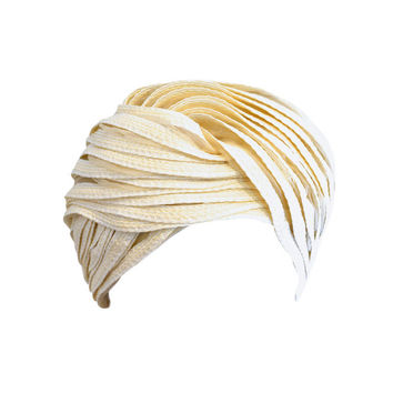 Christian Dior Turban Hat in Ivory