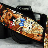 dSLR Camera Strap, SLR, Cartoon Dogs,  195