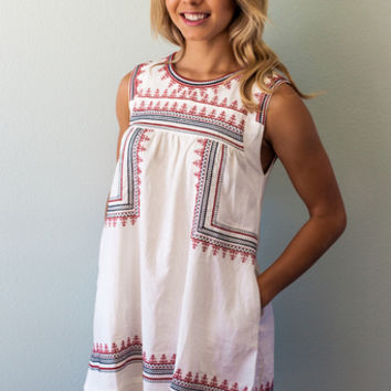 Wanderlust Embroidered Dress