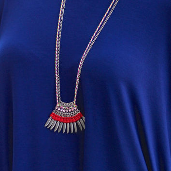 Birds of a Feather Necklace {Red}