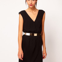Warehouse Wrap Belted Dress at asos.com