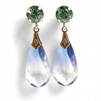 Crystal Tear Drop Earrings by Anton Heunis