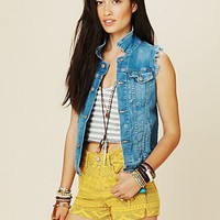 Free People Mid Rise Bleeker Shorts