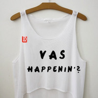 Vas Happenin One Direction Cropped Tank Top