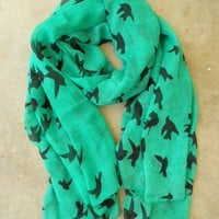 Sparrows in Flight Verte Scarf - $17.10 : Vintage Inspired Clothing &amp; Affordable Summer Dresses, deloom | Modern. Vintage. Crafted.