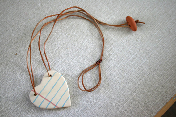 Love Note Ceramic Necklace