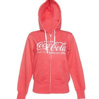 Ladies Coca-Cola Logo Zip Up Hoodie : TruffleShuffle.com