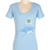ModCloth Long Short Sleeves Fin Dining Tee