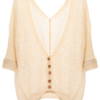 V-neck Cropped Cardigan [NCSWD0104] - $29.72 :