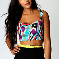 Layla Ikat Print Bralet