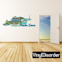 Famous City Punta Cana Wall Decal - Vinyl Car Sticker - Uscolor066