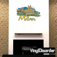 Famous City Milan Wall Decal - Vinyl Car Sticker - Uscolor064