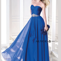 Sweetheart Ruched Beaded Waist Prom Dress By B'Dazzle 35703