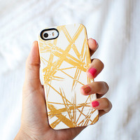 GOLD STROKES faux gold iPhone 6, iPhone 6 PLUS,  iPhone 5/5s case