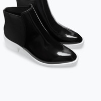 COMBINED FLAT ANKLE BOOT