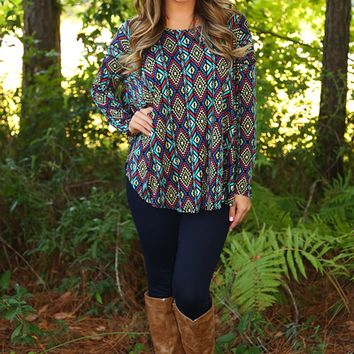 Perfectly Patterned Piko Top: Multi
