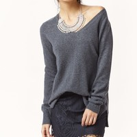 LONG AND LEAN V NECK CASHMERE