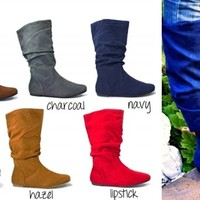 They're Back! Slouchy Boots: Mid-Calf or Knee-High