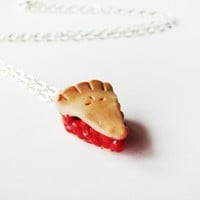 Cherry Pie Slice Charm Necklace