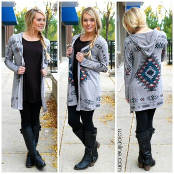 Mixed Signals Cardi - GREY /