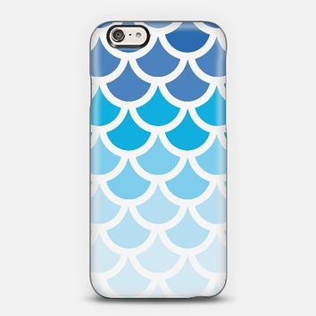 Blue Ombre Mermaid Scales iPhone 6 case by Organic Saturation | Casetify