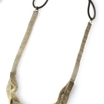 Chain Knot Headband - Antiqued Gold – H.C.B.