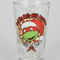 Deck The Halls With Pepperoni Pint Glass - Urban Outfitters