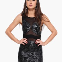 The Bomb Sleeveless Mini Sequin Dress