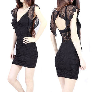 Little Black Lace Dress $44.00
