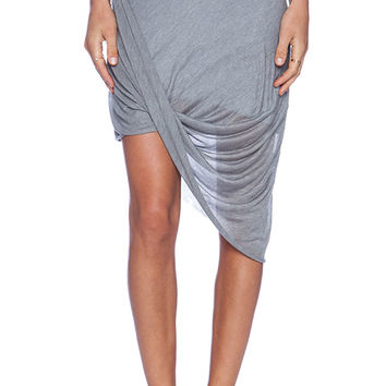 La Made Layla Drape Skirt in Gray